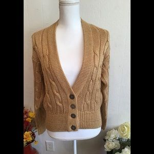 Liz Claiborne tops sweater gold long sleeve size S